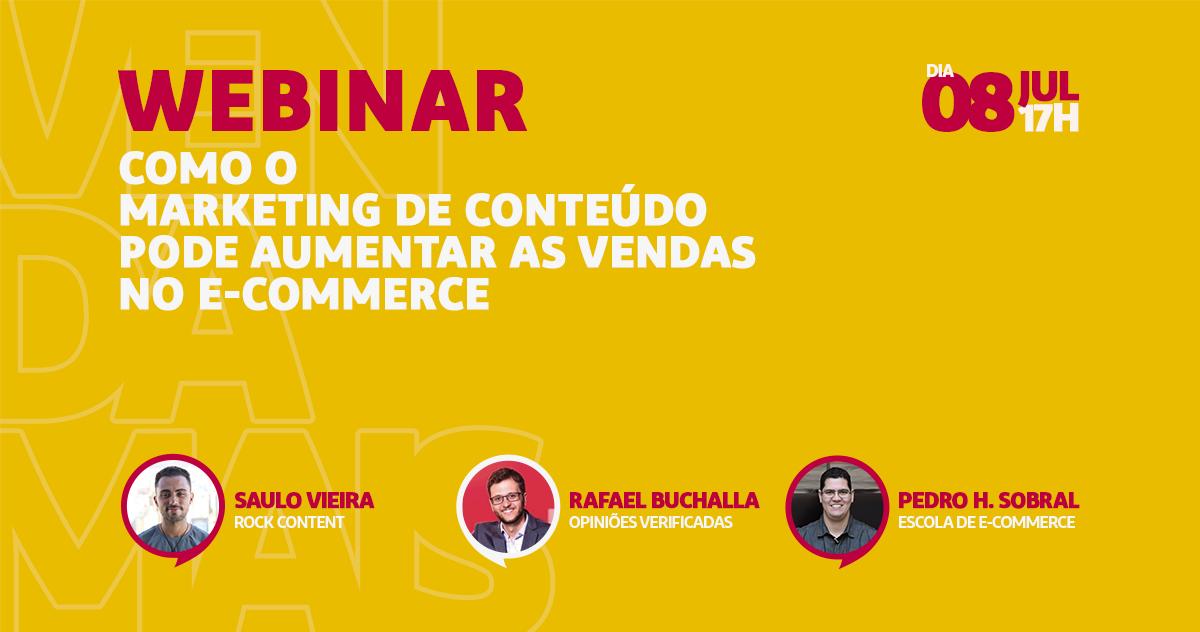 Webinar: Como o marketing de conteúdo pode aumentar as vendas no e-commerce