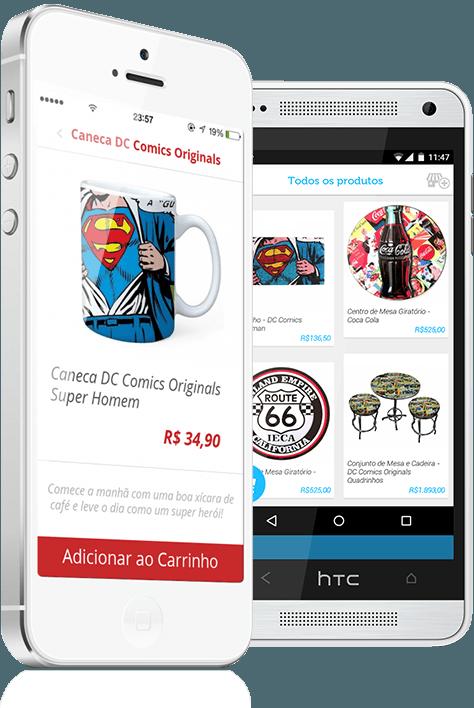 Customiza sua loja dentro de um aplicativo mobile