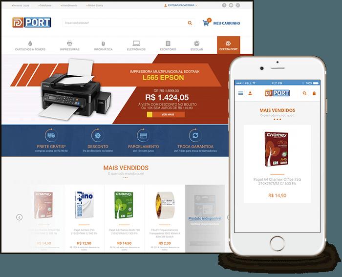 Template Mobile para todas as lojas virtuais