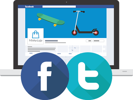 Facebook, Twitter, Google plus