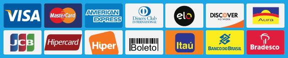 pague em cartão parcelado em até 6x, transferência bancária e boleto