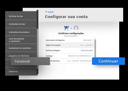 Configuração fácil e rápida